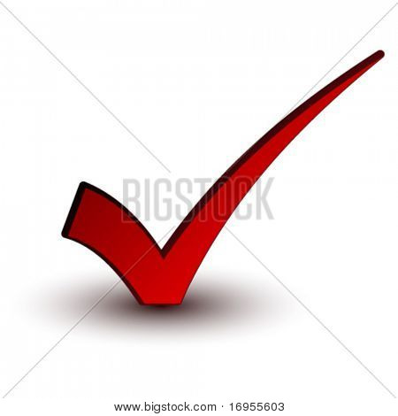 Vector marca positiva roja