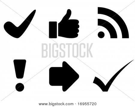 símbolos de Vector negro