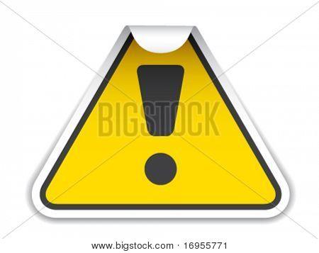 vector warning sticker