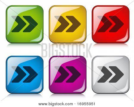botões de seta de vetor