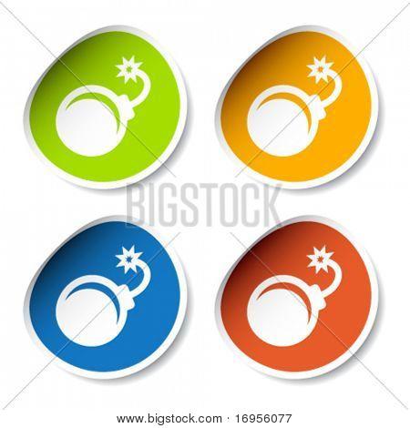vector bomb stickers