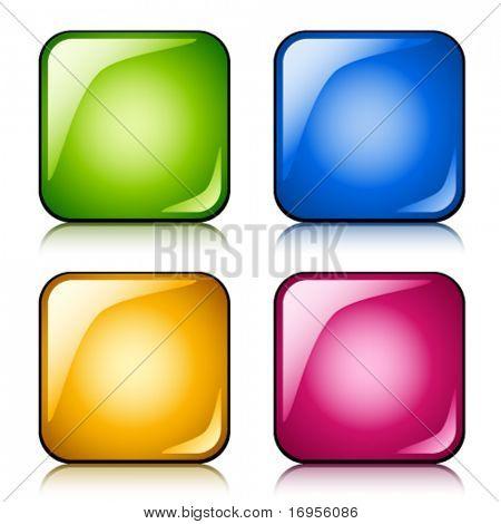 botones brillante Vector