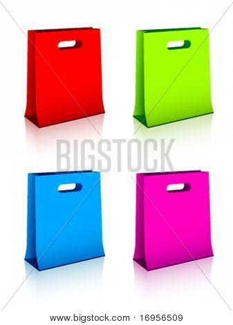 Vektor-Papier-Einkaufstaschen