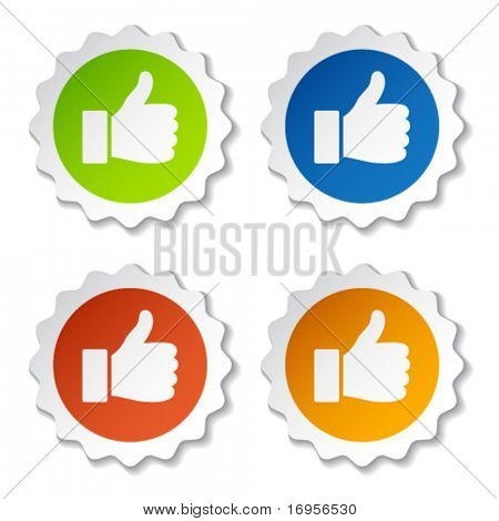 vector thumb up stickers