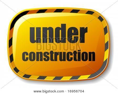 vector under construction rectangle button