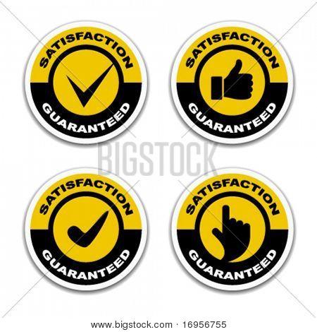 vector satisfaction guaranteed stickers