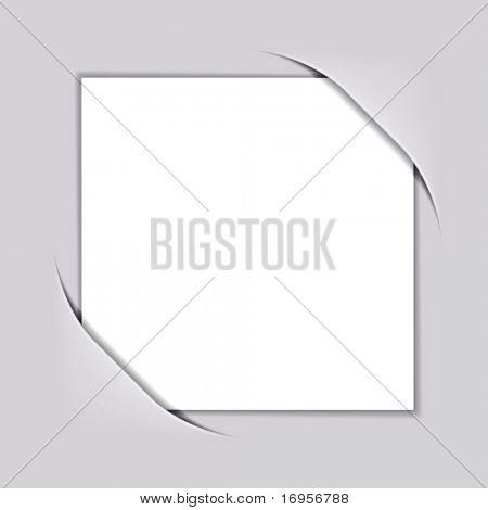 Vector en blanco blanco papel cuadrado