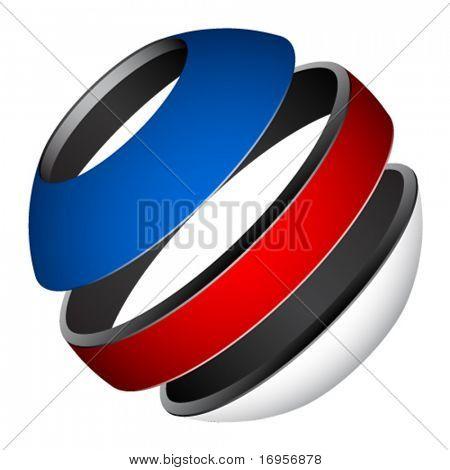 vector patriotic tricolor globe
