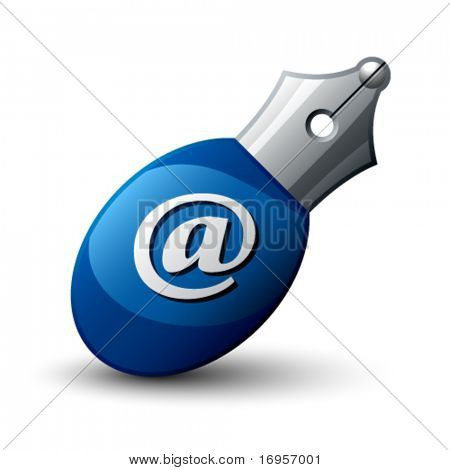 vector write e-mail pen icon