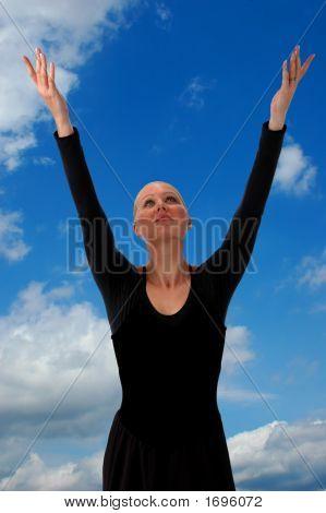 Ballerina Raising Arms