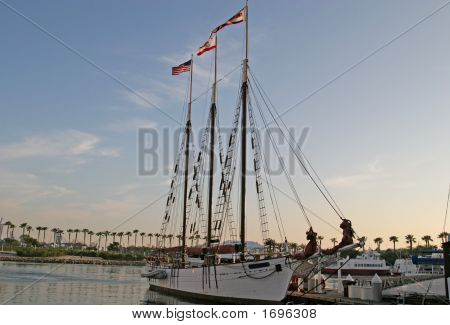 Three Masts At Dawn