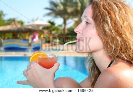 Girl With Tropical Juice