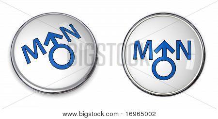 Button White Word Man/male Gender Symbol