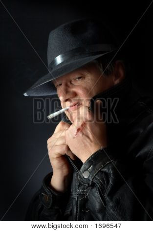 Smoking Mafia Guy