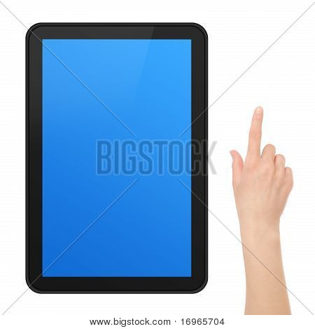 Interactive Touch Screen Tablet With Hand