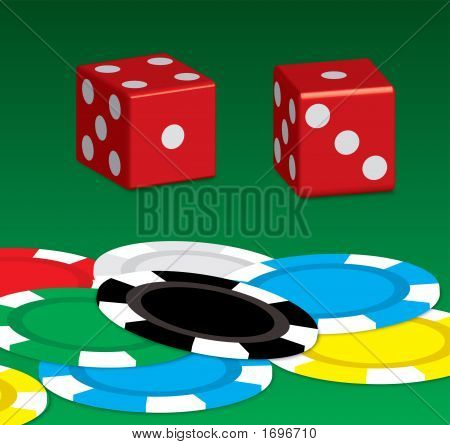 Poker Chip N Dice