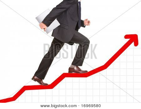 Conceptual image of  business progress or growth