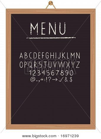 Restaurant menu board
