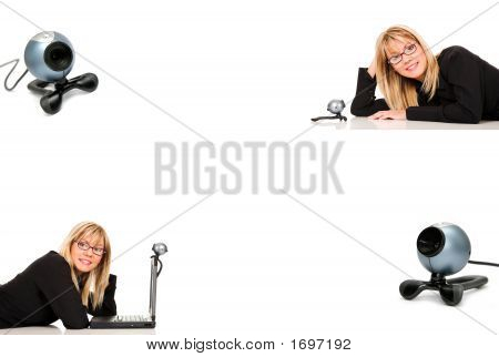 Woman And Webcam