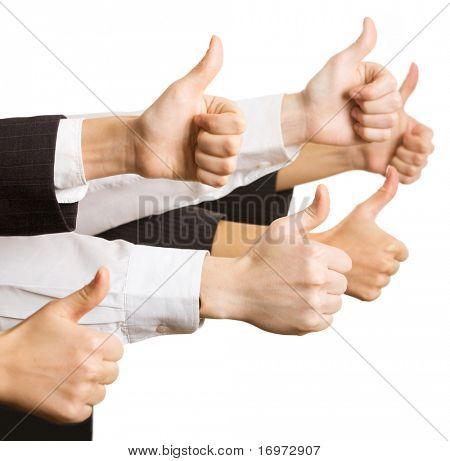 Firmen Logo Hände zeigt Ordnung Zeichen