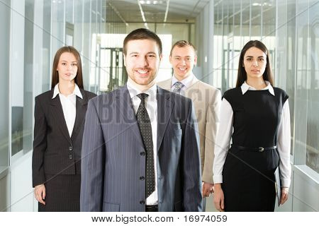 Young and successful businessteam in an office