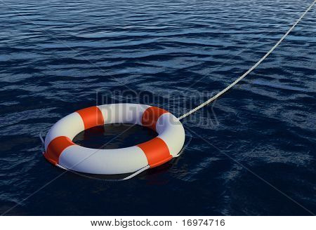 Render of Buoy Ring floating in water