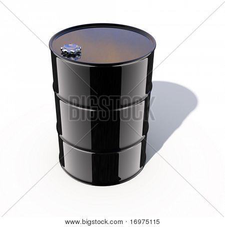 3d rendered image - Oil Barrel