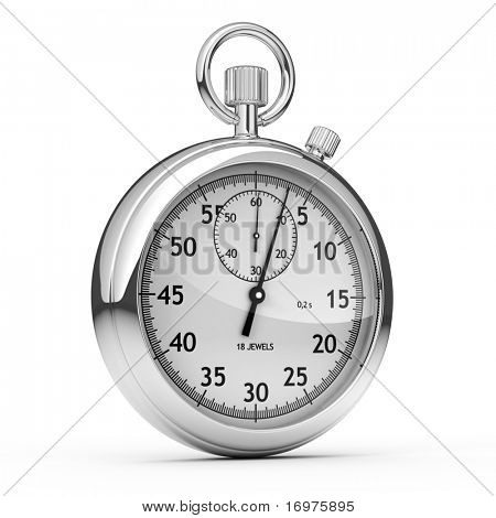 Stopwatch isolated on white - 3d render