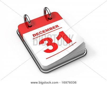 Last day of the year -  3d rendered calendar