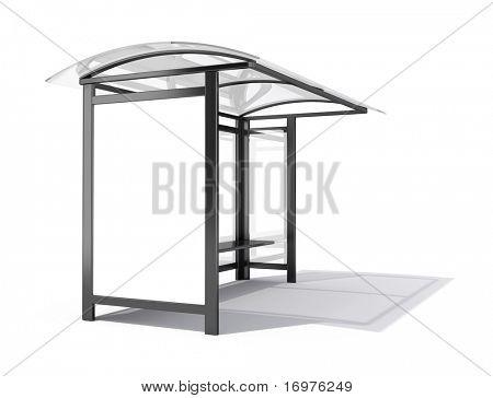 Parada de autobús de la cartelera - 3d render