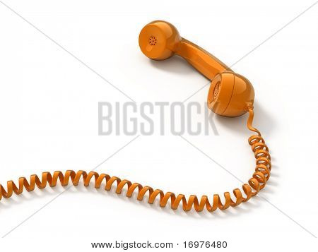 Retro telephone tube isolated on white