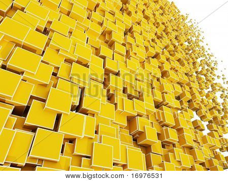 Abstract background of 3d blocks cubes