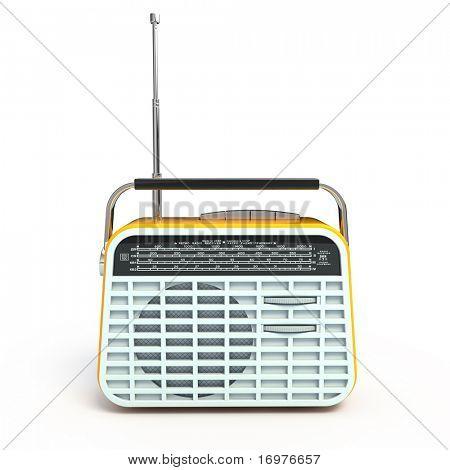 Retro radio - front view