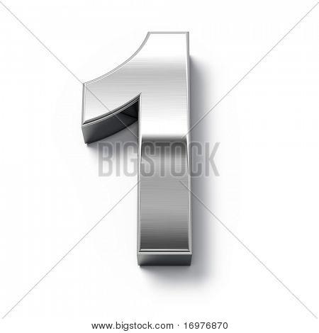 3D Metall Nummern Nummer 1