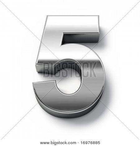 números de metales 3D - número 5