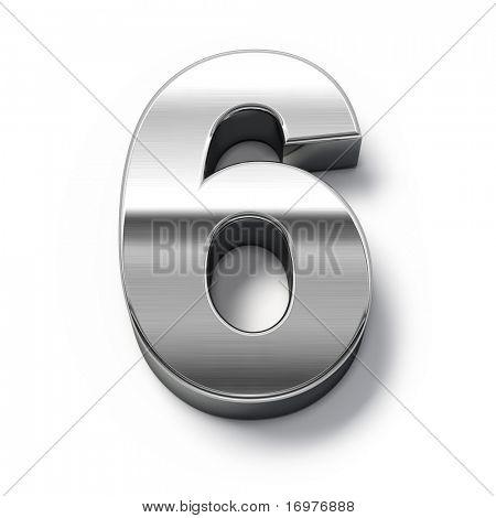 3d Metal numbers - number 6