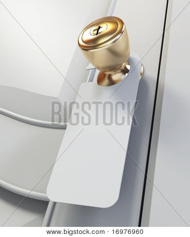 Sinal em branco no identificador de porta