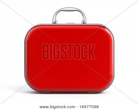 Suitcase isolated over white