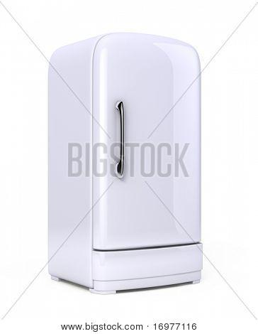 Retro Fridge isolated on white