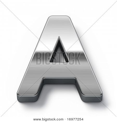 Metal alphabet symbol - a