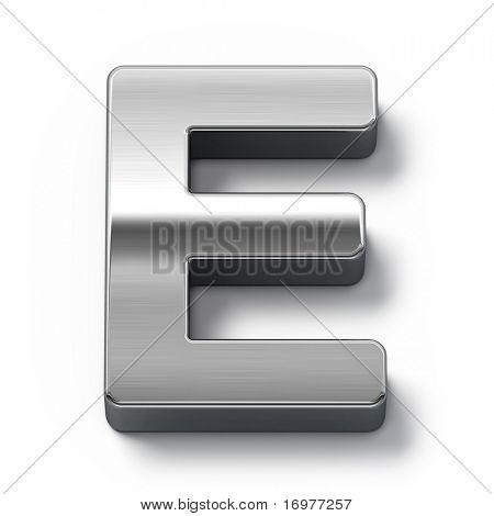 Metal alphabet symbol - e