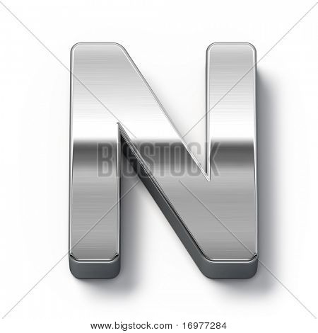 Metal alphabet symbol - n