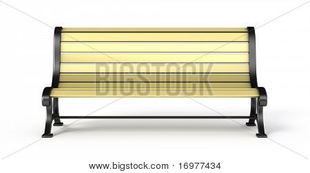 Bench isolated on white background - front view
