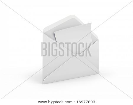 Open envelope with letter