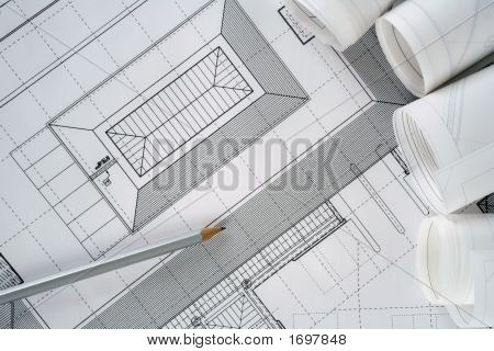 Architect Plans And Rolls