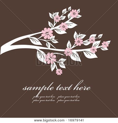 Floral background for greeting card. Vector