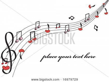 Love music. Vector.