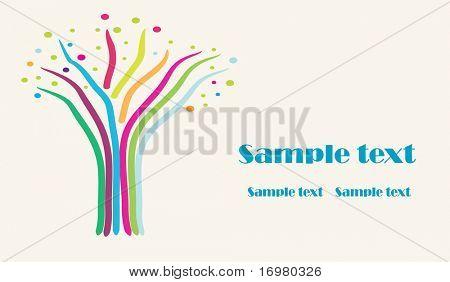Design para cartão de visita.