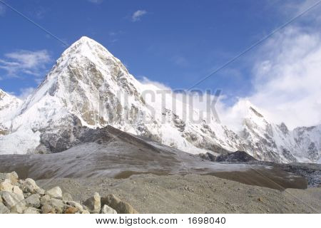 Pumori And Kala Pattar - Himalaya.
