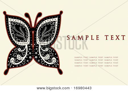 Butterfly. Vector illustration.